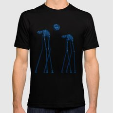 Dali's Mechanical Elephants - Blue Sky Mens Fitted Tee Black MEDIUM