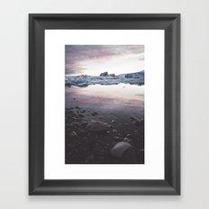 Jokulsarlon Lagoon - Sunset Framed Art Print