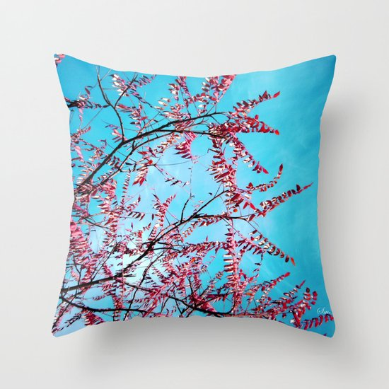 Cyan Sky Throw Pillow