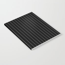 Black White Pinstripes Minimalist Notebook