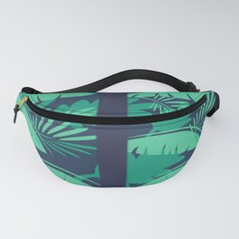 Anchor Tropical Palm Leaf Fanny Pack