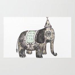 Victorian Circus Elephant Rug
