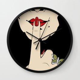 Shh! Wall Clock
