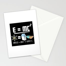 E=MC2 Energy Milk Coffee Stationery Cards