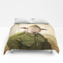 Private Leonard Lamb visits Paris Comforters