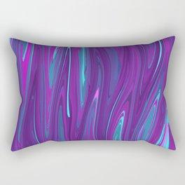 Pink, Purple, and Blue Waves 2 Rectangular Pillow