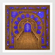 orvio illuminated space mandala Art Print