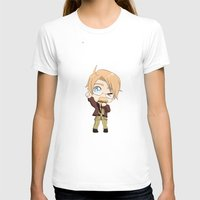 hetalia T-shirts featuring Chibi!America by Manos-Art