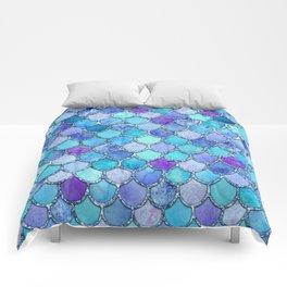 Colorful Blues Mermaid Scales Comforters