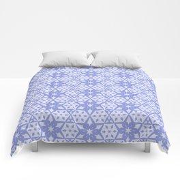 Stars and Hexagons Pattern - Mood Indigo Comforters