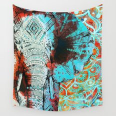 Indian Sketch Elephant Wall Tapestry