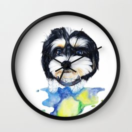 Shih tzu puppy Wall Clock
