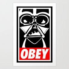Obey Darth Vader - Star Wars Art Print