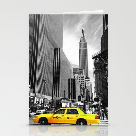 The yellow cab Stationery Cards