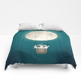 moon bunnies Comforters