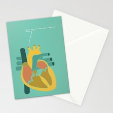 Aorta Tell You How Much I Love You Stationery Cards