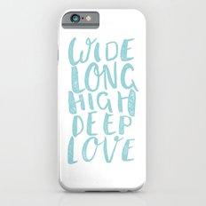 LOVE inifinite - BLUE iPhone 6s Slim Case