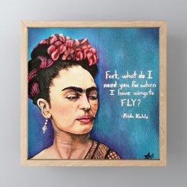 Frida has wings Framed Mini Art Print
