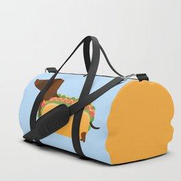 Wiener Dog in a Bun Duffle Bag