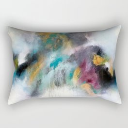 Abstract teals and purples Rectangular Pillow