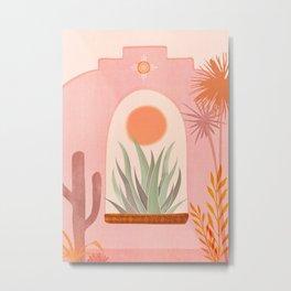 El Sol / Desert Landscape Metal Print
