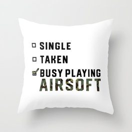 Single Relationship Airsoft Airsoft BBs Gift Throw Pillow