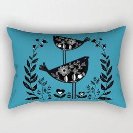 Danish Birds Bring Good Luck And A Good Life Rectangular Pillow