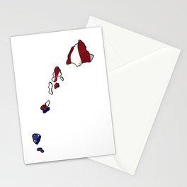 Patriotic Hawaii Stationery Cards