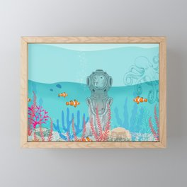 WATER DOG Framed Mini Art Print