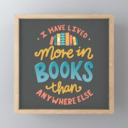 Live In Books - Bookish Merch Framed Mini Art Print