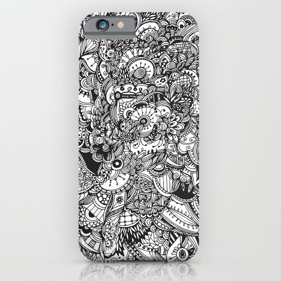 Detailed rectangle, black and white  iPhone & iPod Case