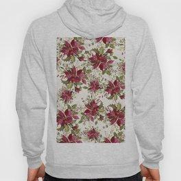 Poinsettia Pattern Hoody