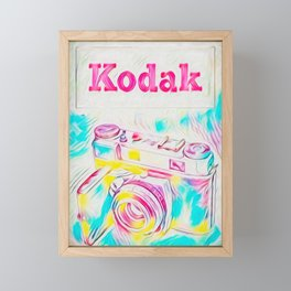 Psychedelic Kodak Framed Mini Art Print