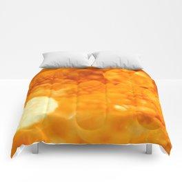 Macro Romanesco Broccoli - Bokeh Gold Comforters