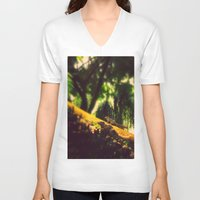 climbing V-neck T-shirts featuring Climbing up. by BlacknWhite