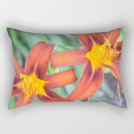 Flower | Flowers | Two Tiger Lilies | Nadia Bonello Rectangular Pillow