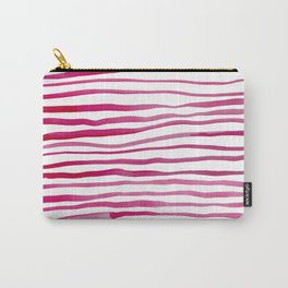 Irregular watercolor lines - pink Carry-All Pouch