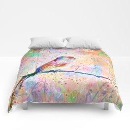 Flashy Phoebe - Black Phoebe Bird Comforters