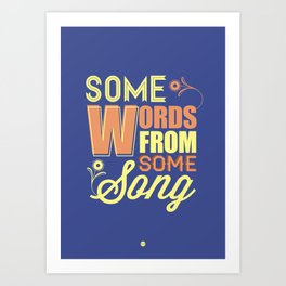 Some Song Art Print