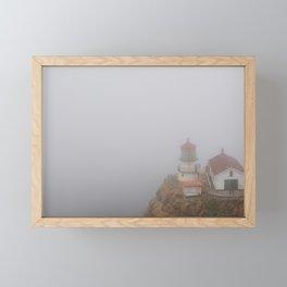 Little Lighthouse by the Sea - Point Reyes, California Framed Mini Art Print