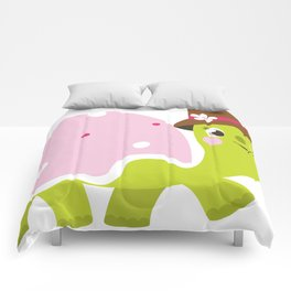 Beautiful kids and baby Drawing Turtle Comforters