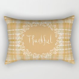 Autumn Weave Thankful Rectangular Pillow