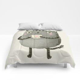 I♥kill (brown) Comforters
