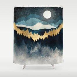 Indigo Night Shower Curtain