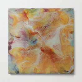 Abstract Iris by Michelle R. Acker Metal Print