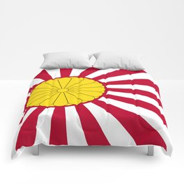 Japanese Flag And Inperial Seal Comforters