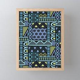 Purple Geometric Framed Mini Art Print