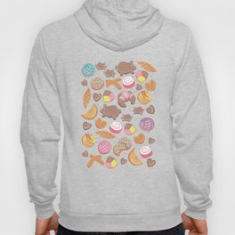 Mexican Sweet Bakery Frenzy // turquoise background // pastel colors pan dulce Hoody