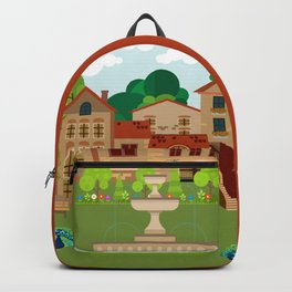 Ancient houses 6 Backpack