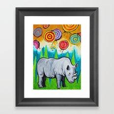 Rhino of the Land Framed Art Print